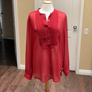 Banana Republic blouse XL brick red